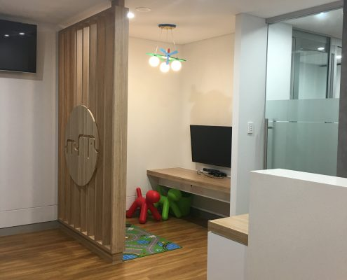Kids waiting room inside the clinic