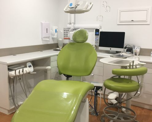 Inside the dental office with tools